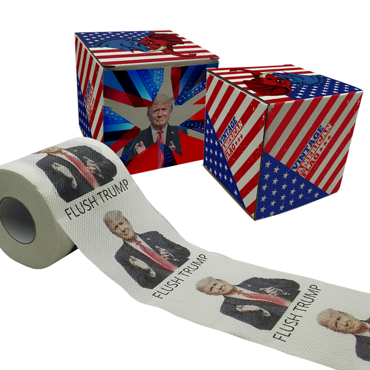 flush trump toilet paper